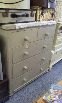 Fabulous large vintage chest of drawers painted in Annie Sloan chalk paint